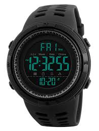 <b>Mens</b> Digital <b>Watch</b> - <b>50M</b> Waterproof <b>Men</b> Sports <b>Watches</b>, Black ...