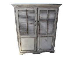french distressed furniture. High Quality French Style Distressed Antique Cream Jalousie Door Shelved Cupboard Furniture U
