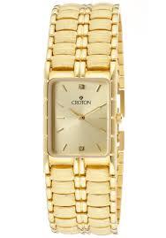 croton watches men s white diamond 0 02 ctw champagne dial gold croton watches men s white diamond 0 02 ctw champagne dial gold tone brass sp399130ylcd