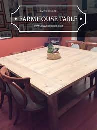 how to build a square farmhouse table free plans by jen woodhouse