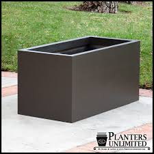 modern rectangle planter 36inl x 16inw x 16inh large planters