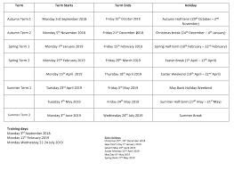 Term Dates - UTC Leeds