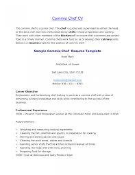 Chef Resume Examples Executive Sous Samples Commis Cv Uk Australia
