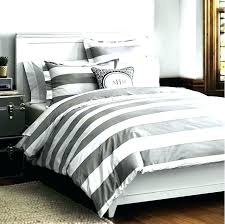 d gray striped duvet cover grey and white stripe single