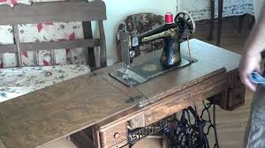 Treadle Sewing Machine Cabinet Restored Antique 1922 Singer 127 Sphinx Treadle Sewing Machine