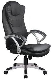 office chair back. Lower-Back Support Chair With Black Padded Arm-Rests Office Back