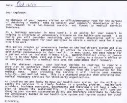 Fake Doctors Note Alberta Doctor Calls Medical Note To Patients Employer A Waste Of