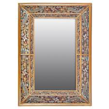 baroque 20 x 40 hanging double angle wall mirror