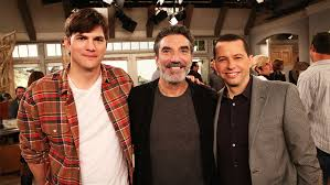 two and a half men chuck lorre jon cryer ashton kutcher look two and a half men chuck lorre jon cryer ashton kutcher look back variety