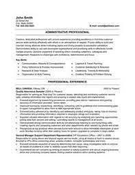 Examples Of Administrative Assistant Resumes 26 Best Best Administration Resume Templates Samples Images