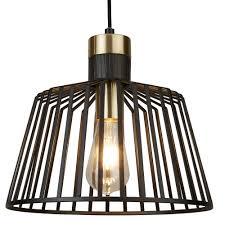 bird cage large ceiling pendant light in matt black finish 9411bk