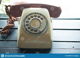 Old Telephone Design Old Vintage Telephone Phone Old Telephone Concept Stock