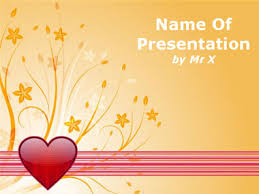 Love Power Point Background Floral Love Powerpoint Template