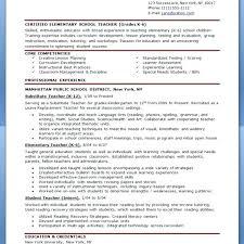 Resume Samples 2017 Inspiration Elementary Teacher Resume Samples 60 Sample Teaching School With