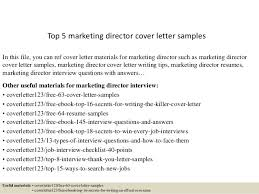 Marketing Cover Letter Sample Top 5 Marketing Director Cover Letter Samples