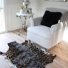 leopard print blespok hide floor rug eluxury home australia