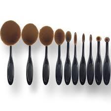 10 pcs toothbrush shaped oval makeup brushes mermaid brush eyeshadow set without box