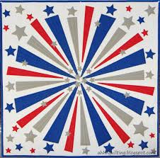 Patriotic Quilt Patterns: 8 Red, White and Blue Quilts & Firework Quilt Ahh Quilting Adamdwight.com