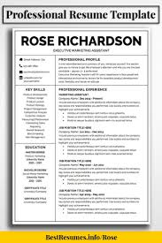 Resume Templates That Stand Out Resume Template Rose Richardson Job Resume 37