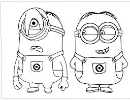 By best coloring pagesmarch 30th 2017. Printable Minions Coloring Pages Coloring Home