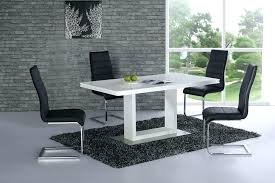 full size of black gloss dining table galaxy round clear glass and 4 white chairs lovely