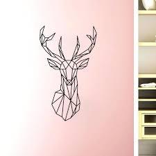 deer head wall art new design geometric deer head wall sticker geometry animal series decals vinyl