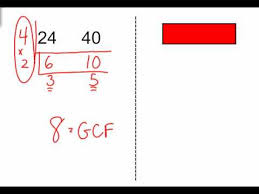 Greatest Common Factor Chart Using T Charts To Find Greatest Common Factor Youtube