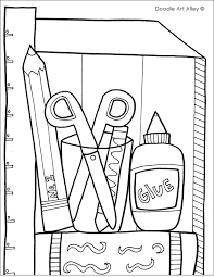 school coloring pages. Delighful School School Supplies Coloring Page For Pages T