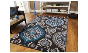 fashionable contemporary fl area rug 5x8 navy cream beige 5x7 rugs