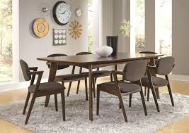 coaster malone midcentury modern casual dining table  coaster