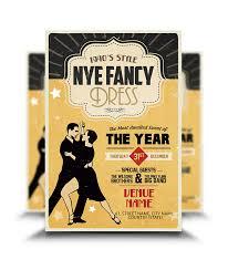 Fancy Flyers 1940 S Style New Year Eve Flyer