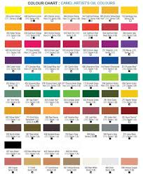 Oil Paint Colour Chart Camel Artist Oil Colours Kokuyocamlin
