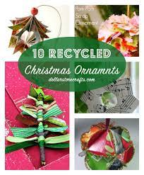 10 recycled christmas ornaments