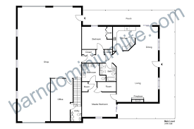 barndominium floor plans with top