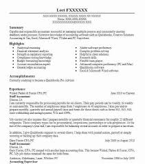 staff accountant resume resume templates