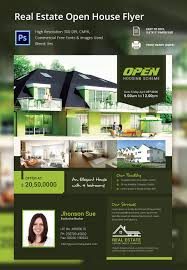 open house flyer psd format elegant real estate open house flyer template