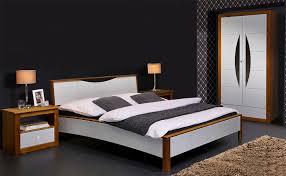 Schlafzimmer Komplett 4 Teilig Braun Weiß Kiefer Massiv 180x200cm