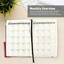 Monthly Weekly Daily Planner Daily Planner 2019 Ohuhu Academic Monthly Weekly Daily