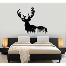 home décor deer antler wall decal mural