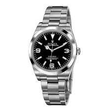 rolex explorer black dial domed bezel oyster bracelet mens watch an error occurred