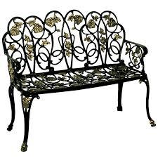high back aluminum cast garden bench