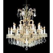 miasto bohemian 25 light crystal chandelier