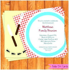 Family Reunion Picnic Invitation Wording Flyer Samples Free ...