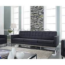 florence knoll style sofa in fabric  (multiple colorsmaterials