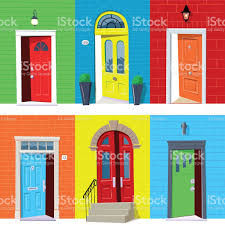open front door clipart. open front door illustration on simple doors vector clipart