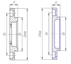Второй этап эскизной компоновки редуктора пункт курсовой работы  Определяющим при конструировании крышки является размер d отверстия в корпусе под подшипник Толщину стенки δ диаметр d и число z винтов крепления крышки