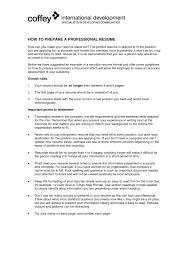 Sensational Design Ideas How To Do A Professional Resume 14 Create