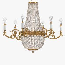 gold chandelier lamp 1 3d model max obj fbx mtl 1