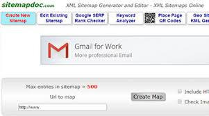sitemapdoc is a browser based sitemap generator that works with up to 500 page s and export in xml and html all you need to do is enter the base