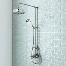 dual head shower faucets traditional luxury rigid riser kit with dual exposed shower valve moen dual shower head valve dual head shower valve